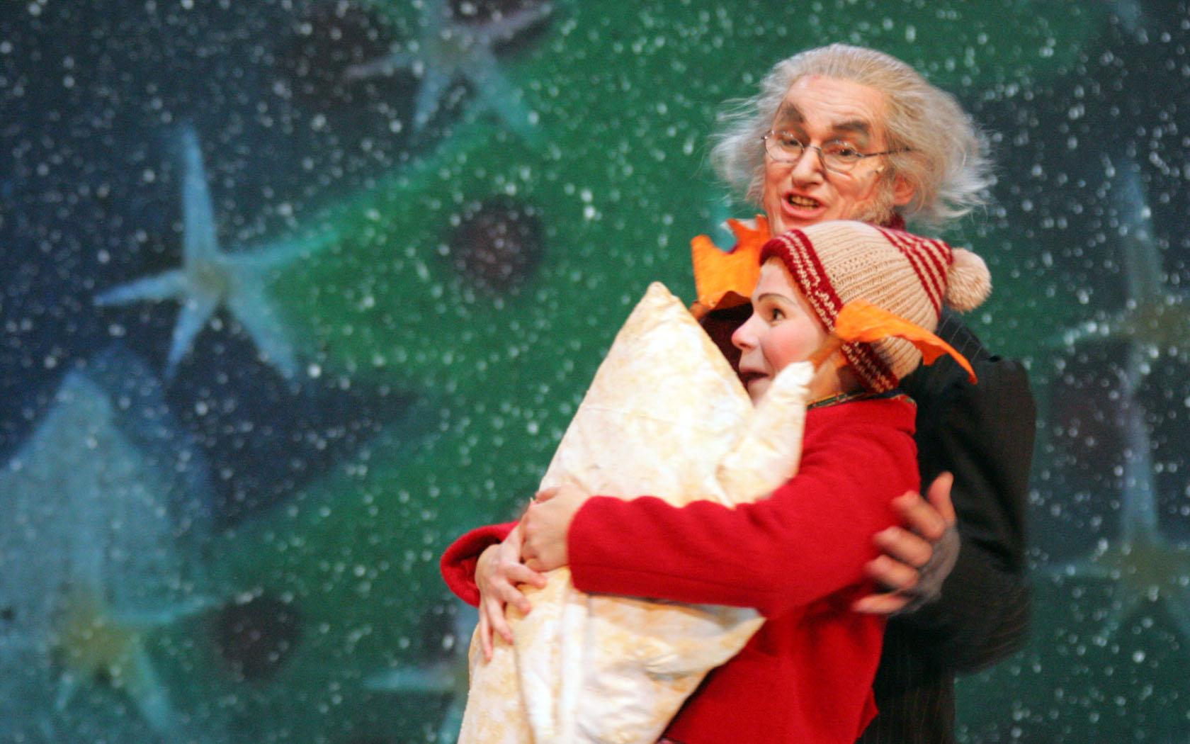 Franziska Krol als Bub - Scrooge